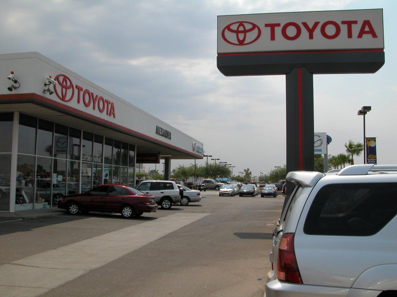 Alexander ford again toyota dealership in yuma